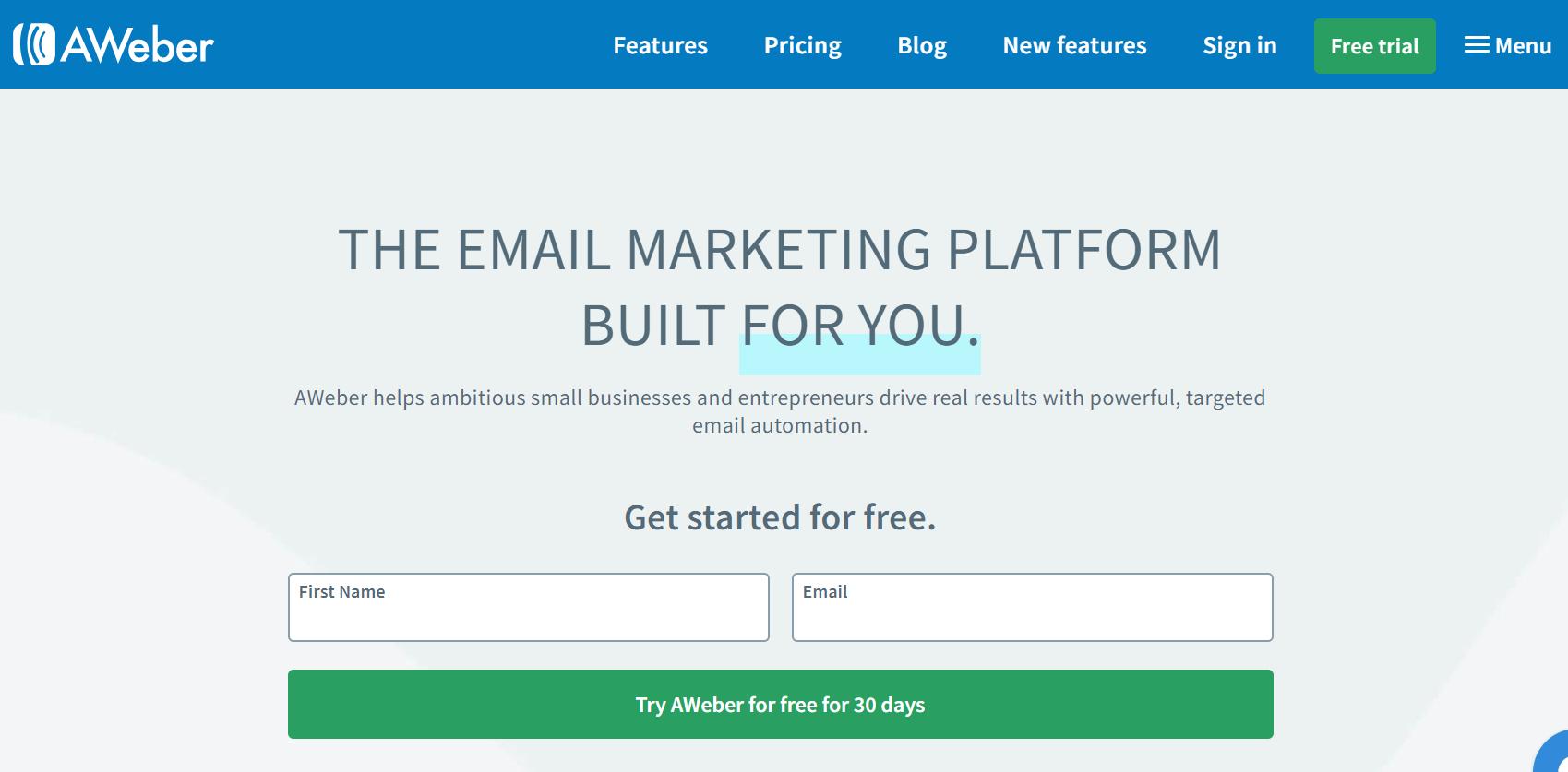 AWeber The Best Marketing Software